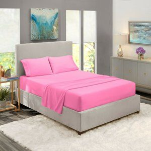 Light Pink Egyptian Comfort Bed Sheets 4 Piece!